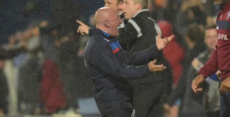 Ian Holloway celebrates his sides draw