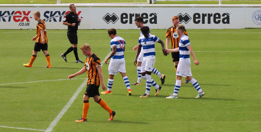 Eze is congratulated following his goal