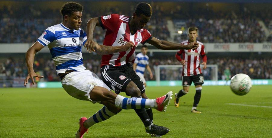 Goalscorer Darnell Furlong crosses into the box