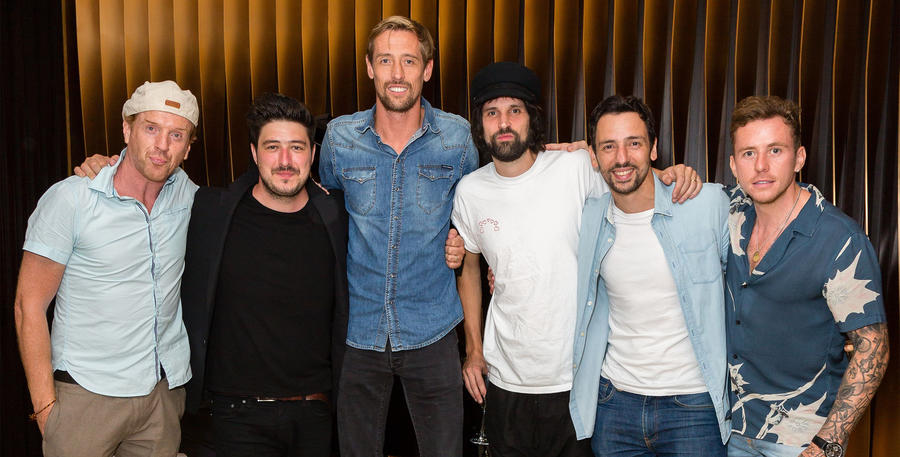 Actor Damian Lewis, Mumford, Crouch, Kasabian's Sergio Pizzorno, Little and McFly's Danny Jones.