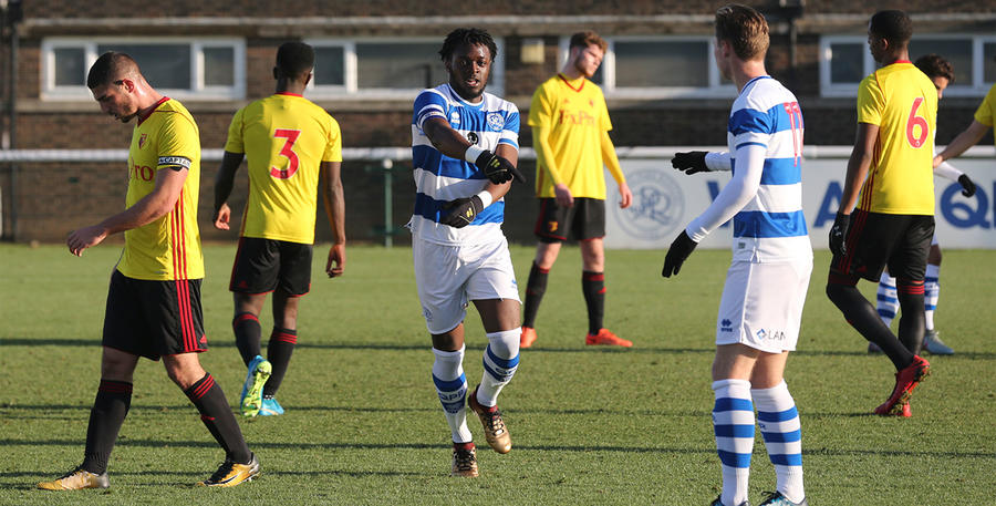 Oteh celebrates his first goal