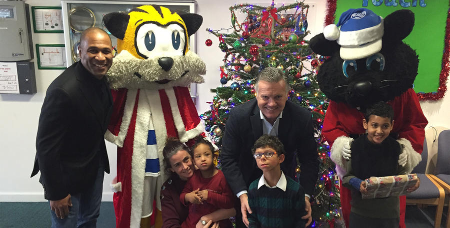 Jude the Cat and Spark also spent time with the children