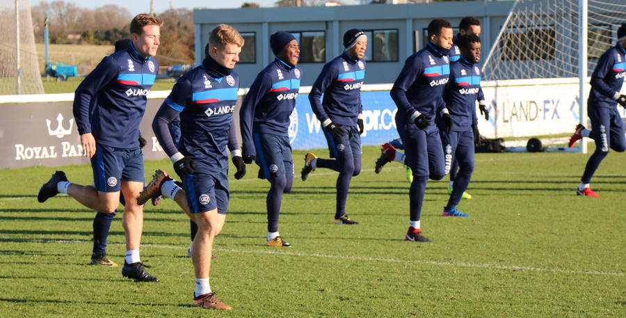 Rangers warm up for Friday night's London derby