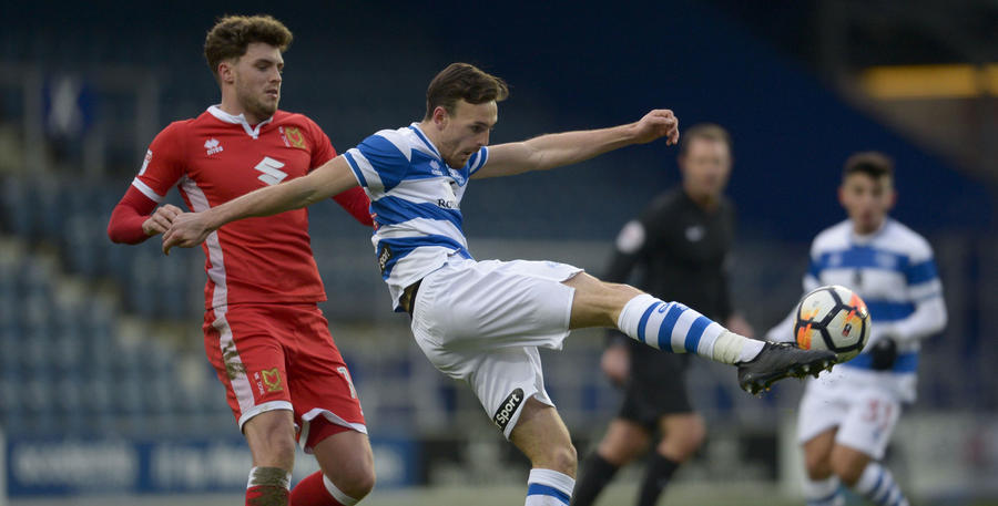 Jack Robinson clears his lines under pressure